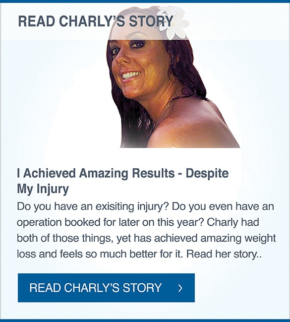 Charlie lost weight inspite of injuries